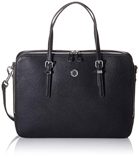 Tommy Hilfiger Honey Computer Bag, Sacs bandoulière femme, Noir (Black),