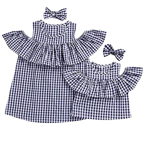 Allecne Familien Kleidung, Mutter und Tochter Kleidung Sommer Family Tank Tops T-Shirt Bluse Baby Kleidung Baby Outfit Babykleidung Mutter Kinder Kleider Tochter Kleidung - Bambus Ärmellose Bluse