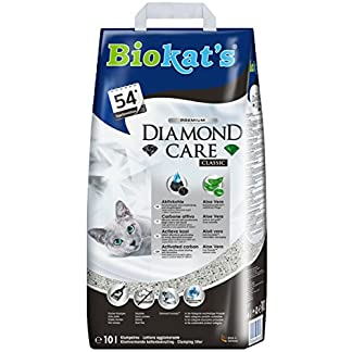 Biokat's Diamond Care Classic Cat Litter – High-quality cat litter with activated carbon and aloe vera – 1 x 10 L paper bag 51xXNPrSrTL