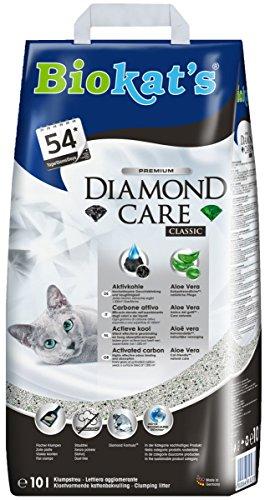 Biokat's Diamond Care Classic Katzenstreu – Hochwertige Klumpstreu für Katzen mit Aktivkohle und Aloe Vera – 1 Papierbeutel à 10 L