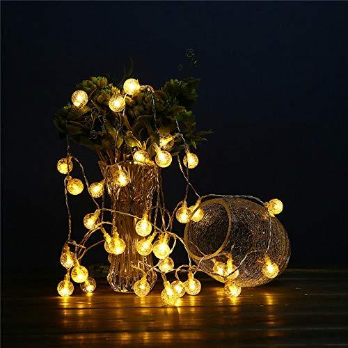 Outdoor wasserdichte LED Solar Lichterkette Garten Hof Zaun Veranda Kristallkugel Dekoration Lampe -