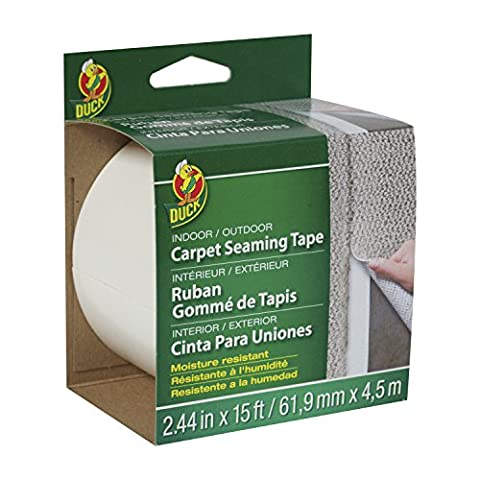 Duck Brand 442063 Self-Adhesive Fiberglass Carpet Seaming Tape, 2-7/16-Inch by 15-Feet, Single Roll by Duck (English Manual)