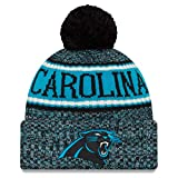 New Era Carolina Panthers Beanie NFL 2018 Sideline Sport Reverse Knit Blue/Black - One-Size