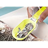 Generic 1 pcs Plastic Fish Cleaning Tool Scraping Scales Device Fish Skin Steel Fish Shaver Remover Cleaner Descaler