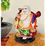 TiedRibbons Laughing Buddha Idol For Home And Office Decor Outdoor Decorative Items In Garden Sculptures Showpiece Statue Figurines Items For Living Room Drawing Room Bed Room Garden Outdoor Decors