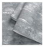 ADN-7 3D Tapete - 0.53m * 10m | Graue Tapete Uni Farbe Industrial Crack Zement Stil | tapete küche | tapete grün | Schlafzimmer Wohnzimmer TV Hintergrund Tapeten/Wand Dekoration