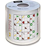 Un rouleau de papier toilette sudoku de Noël