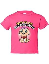 Camiseta niño nacida para ser Sportinguista Sporting Gijón fútbol