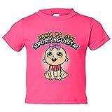 Camiseta niño nacida para ser Sportinguista Sporting Gijón fútbol - Rosa, 12-18 meses