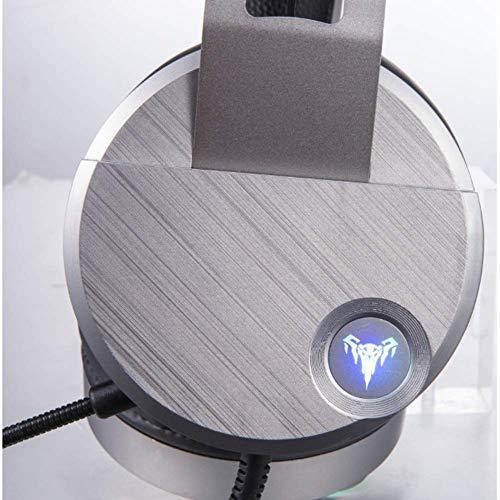Gaming-Headset Surround-Stereo-Sound Ergonomie USB-Kopfhörer mit Kabel für PC, Xbox One, PS4, Nnintedo-Schalter (Edition: Long mic) (Ps4 Fahrer)