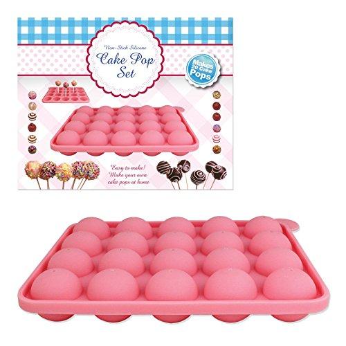 Benross Silicone Cake Pop Baking Set, Set of 20, Pink