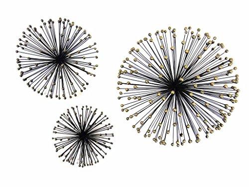 NUOVO - Arte Contemporanea metallo parete - 3 fiore teste appuntite