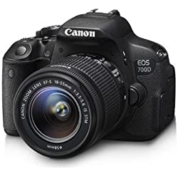 Canon EOS 700D DZ 18 MP Digital SLR Camera (Black) with 18-55mm and 55-250mm IS II Lens + 8GB card and Carry Bag + Free Motorola Pulse-S505 Wireless Bluetooth Headset with Mic