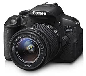 Canon EOS 700D DZ 18 MP Digital SLR Camera (Blue) with 18-55mm and 55-250mm IS II Lens + 8GB card and Carry Bag