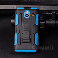 Nokia Lumia 640 XL Custodia, Cocomii® [HEAVY DUTY] Nokia Lumia 640 XL Robot Case **NEW** [ULTRA FUTURO ARMOR] Clip Per Cintura Custodia Premium Cavalletto Kickstand Bumper Case [DEFENDER MILITARI] Corpo Robusto Ibrido A Doppio Strato Coperchio Di Protezione Cover Bumper Case [COCOMII GARANZIA] ::: La Migliore Protezione Contro Le Cadute E Gli Urti Per Il Vostro Nokia Lumia 640 XL ::: ★★★★★ (Black/Blue) - Xl Silicone