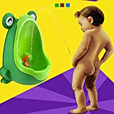 #10: Alcoa Prime 1pc Children Potty Toilet Training Urinal Boys Pee Trainer Cute Frog-Shaped Wall-mounted Child Kid Urinal With Suction Cup Brush