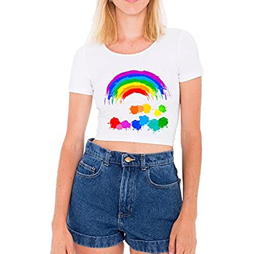 Blanco Crop Top Camisetas Mujer atractiva fiesta Kawaii Punk Tops Ropa femenina