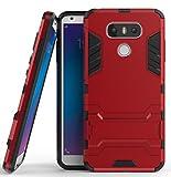 Roreikes LG G6 H�lle, R�stungs Series H�lle Silikon Sto�fest Case mit St�nder Schutzh�lle f�r LG G6 - Rot Bild
