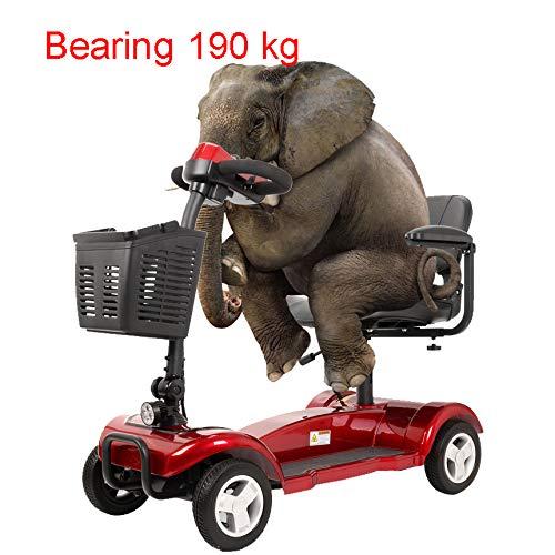 RTUIOP Faltbare elektrische Rollstuhlmotorradreise Vier Rad untauglicher Roller-ältere Generationslithiumbatterie 24V20AH