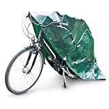 Relaxdays Plastic Bicycle Cover, Sturdy Protective Bike Garage, Waterproof, Robust, Tear-Proof, 220 x 120 cm, Green