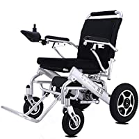 ACEDA Electric Wheelchair, Foldable And 25Kg Lightweight Powered Wheelchair, 360° Joystick,Openable Handrail,Supports 150Kg,Seat Width 43Cm,Silver