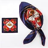 Pañuelo de seda bufanda MS 90cm*90cm primavera y otoño pañuelo de seda de morera,el carro - Marina (Gran Plaza)