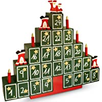 Traditional wooden advent calendar new home xmas decoration