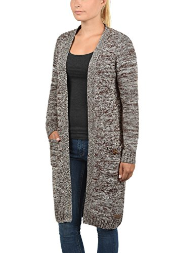 DESIRES Philetta Damen Strickjacke Cardigan aus 100% Baumwolle Meliert Coffee Bean (5973)