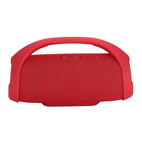 Tragbare wasserdichte Outdoor-HiFi-Spalte drahtlose Bluetooth-Lautsprecher Subwoofer Sound-Box-Unterstützung FM-Radiorot