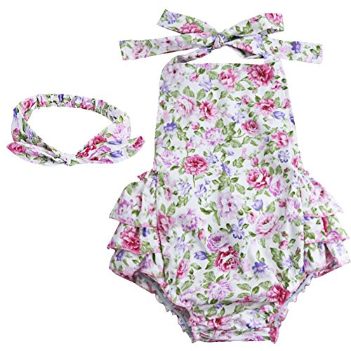 tiaobug-baby-girls-floral-cherry-ruffles-romper-bodysuit-summer-dress-with-headband-whitepink-rose-6