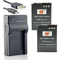 DSTE EN-EL12 Li-ion Batterie (2-Pack) et chargeur USB costume pour Nikon Coolpix P300 P310 P330 P340 S31 S70 S610 S620 S630 S640 S800c