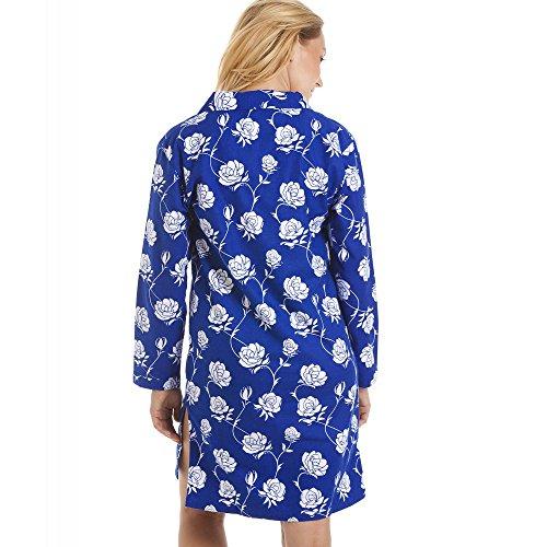 Wincy - Camicia da notte motivo floreale - blu navy e bianco Blu