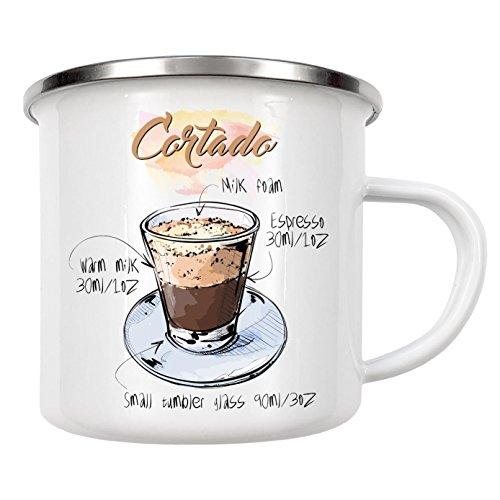 artboxONE Emaille Tasse Cortado Coffee von Arman Akopyan - Emaille Becher Essen & Trinken