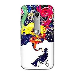 CrazyInk Premium 3D Back Cover for Moto G3 Turbo - POWERFUL PIPE