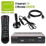 HB DIGITAL DVB-T/T2 Set: Opticum AX500 freenetTV HEVC Receiver AX 500 + Xoro HAN 150 Aktive Antenne (Full HD H.265 HDTV HDMI SCART USB LAN Ethernet SPDIF DVBT DVBT2 DVB-T2 Irdeto Verschlüsselung)