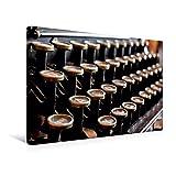 Premium Textil-Leinwand 45 cm x 30 cm quer, Alte Tastatur einer Schreibmaschine | Wandbild, Bild auf Keilrahmen, Fertigbild auf echter Leinwand. Bild alter Bürotechnik (CALVENDO Hobbys)