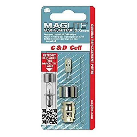 Maglite LMSA401 Xenon Replacement Bulb for 4C-