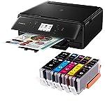 Canon PIXMA TS6050 3 in 1 Multifunktionsdrucker (Drucken, Scannen, Kopieren, WLAN, Duplex, 4.800 x 1.200 dpi) mit 5 EasyInk Patronen