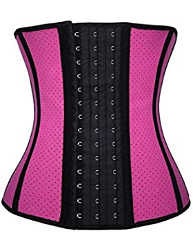 FeelinGirl - Corsé de moldeamiento de cintura para mujer, látex Rosa mit Loch