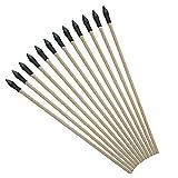 3Z Archery 12 Paquetes Seguridad Infantil Flecha Flecha de Madera Flecha Seguro para niños 50 cm para Entrenamiento en el Exterior Flecha 7 mm