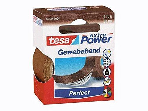 Gewebeklebeband extra Power Gewebeband, 2,75 m x 38 mm, braun