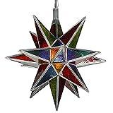 albena Marokko Galerie 13-172 Vega Lampenschirm orientalische Lampe 40cm Stern Glas