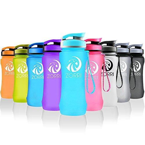Sport-Bottiglia-dacqua-a-perfetta-tenuta-20oz-1000ml-Flip-Top-Lid-Non-BPA-Ecologico-Tritan-Materiale-Palestra-YogaCiclismoOutdoor-E-CampeggioPer-il-Viaggio-Un-clic-su-Apri