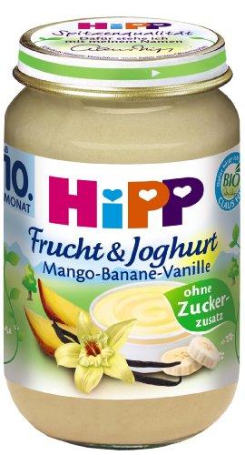 HiPP Mango-Banane-Vanille, 12er Pack (12 x 160 g) (Mango-vanille-extrakt)