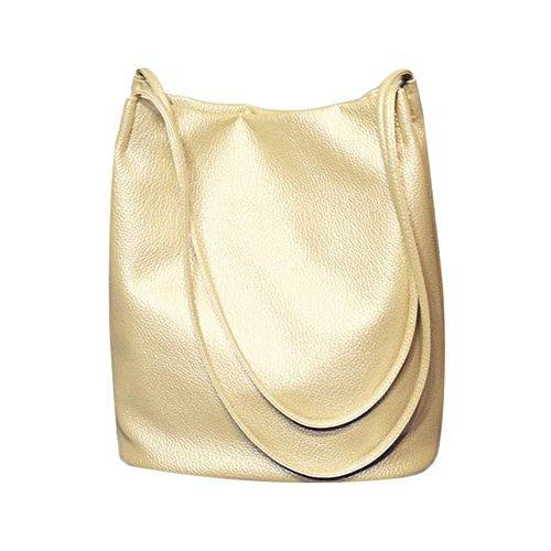 Myleas Donna Borsa a Tracolla Borsetta Shopper Borse Benna Oro