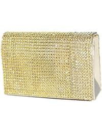 Luxus Glitzer-Abendtasche, Clutch-Tasche, gold