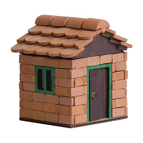 ALEA Mosaic Steinbaukasten, Leo Hütte, mit Ziegel Bausteinen und Biberschänzen