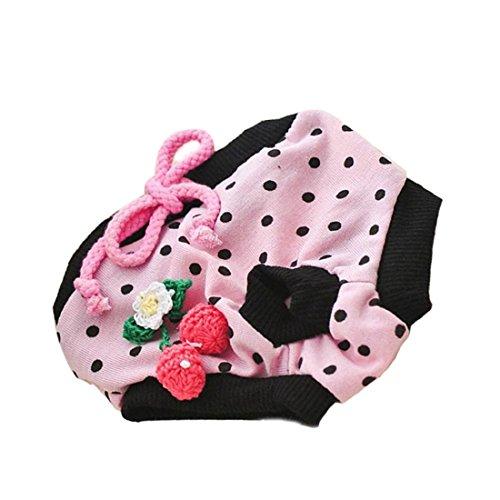 Rosa perro de mascota Cachorro pañales pantalones fisiológicos sanitarias corto bragas breve ajustable