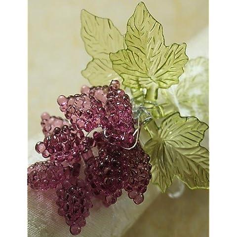 ZY/foglia con anello di tovagliolo uva Natale,