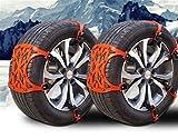 GEARS PANDA Chaînes de pneus de neige anti-dérapant 6 PCs voiture Universal Emergency pneu anti-dérapant voitures véhicule SUV